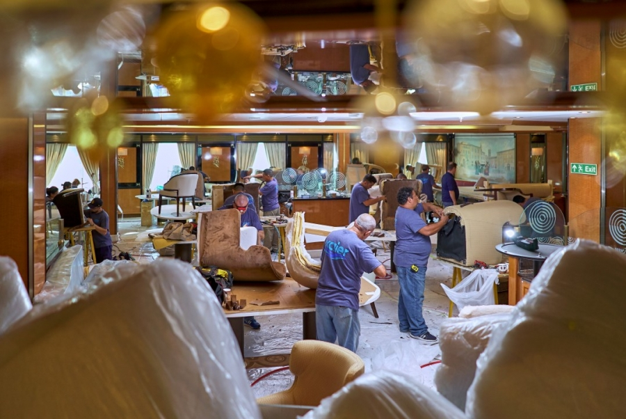 Cruise Ship Interior Renovations in uncertain times makes managing costs vital to meet guests expectations